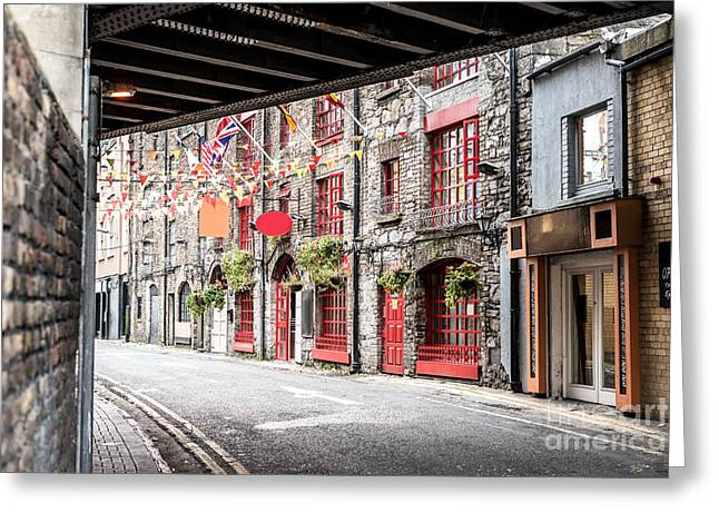 One Beautiful  Street  In Dublin Greeting Card by Massimofusaro