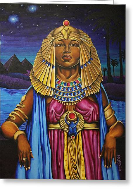 One Night Over Egypt Greeting Card