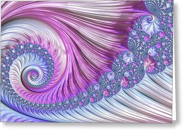 Opal Nautilus Greeting Card
