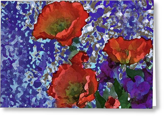 Orange Flowers Of The A Collection Greeting Card