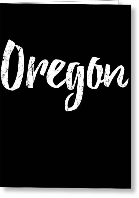 Greeting Card featuring the digital art Oregon by Flippin Sweet Gear