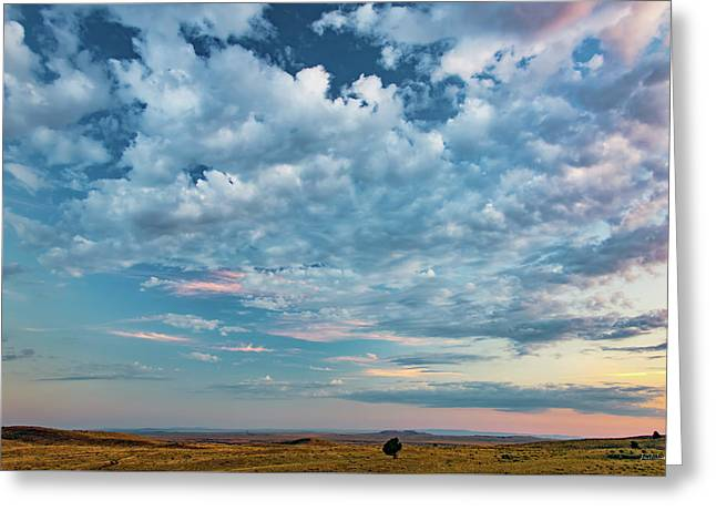Oregon High Desert Cloudscape Greeting Card by Leland D Howard