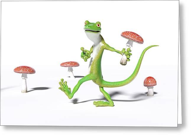 Organic Gecko Greeting Card