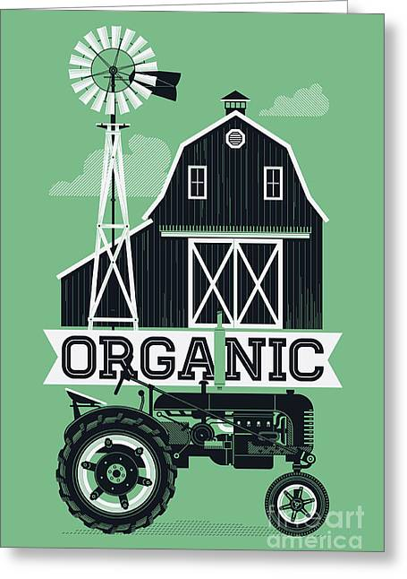 Organic Poster Or Web Banner Template Greeting Card