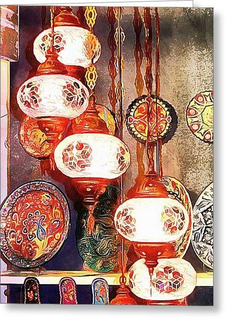 Greeting Card featuring the photograph Oriental Lamp by Dorothy Berry-Lound