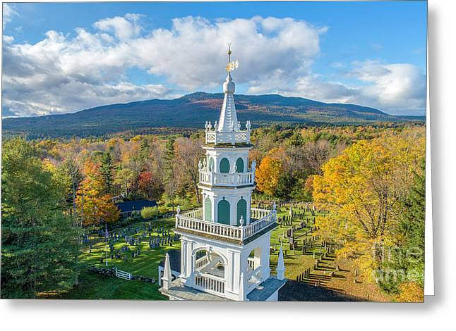 Greeting Card featuring the photograph Original Meeting House Jaffrey Nh by Michael Hughes