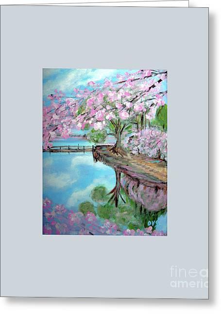 Original Painting. Joy Of Spring. Greeting Card