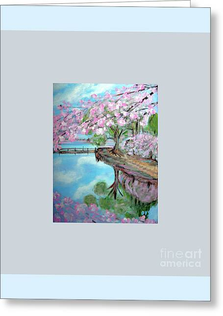 Original Painting. Joy Of Spring. Greeting Card