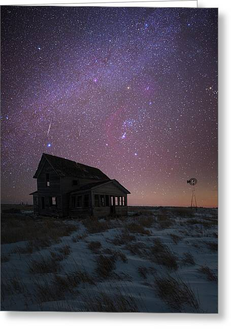 Greeting Card featuring the photograph Orion  by Aaron J Groen