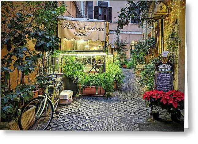 Osteria Roma - Jo Ann Tomaselli Greeting Card
