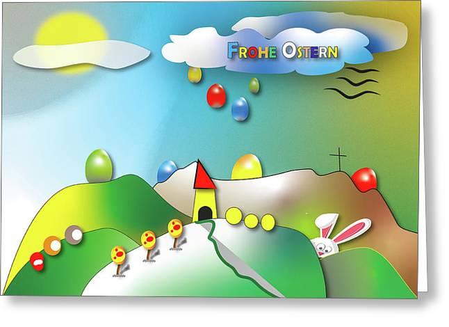 Osterkarte Ostergruss Zeichnung  Greeting Card