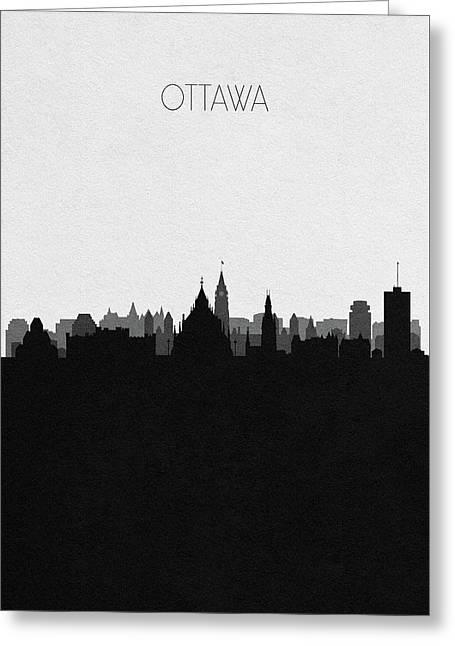 Ottawa Cityscape Art Greeting Card