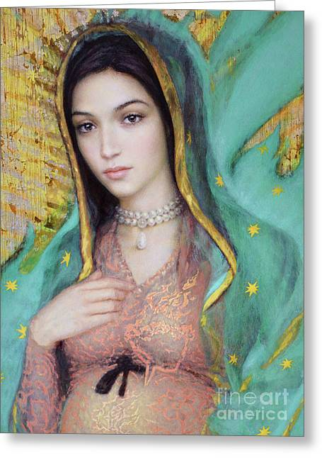 Our Lady Of Guadalupe, 1/2 Greeting Card