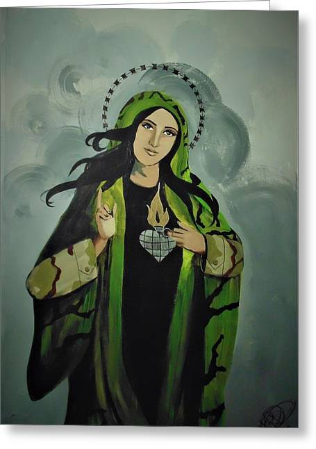 Our Lady Of Veteran Suicide Greeting Card