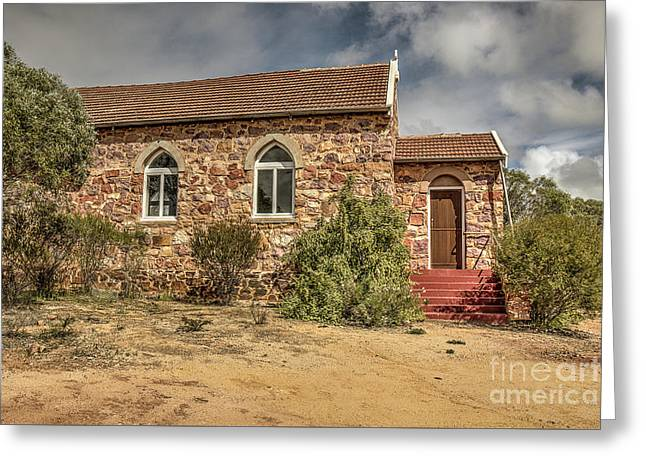 Greeting Card featuring the photograph Our Lady Queen Of Peace, Yuna, Western Australia by Elaine Teague