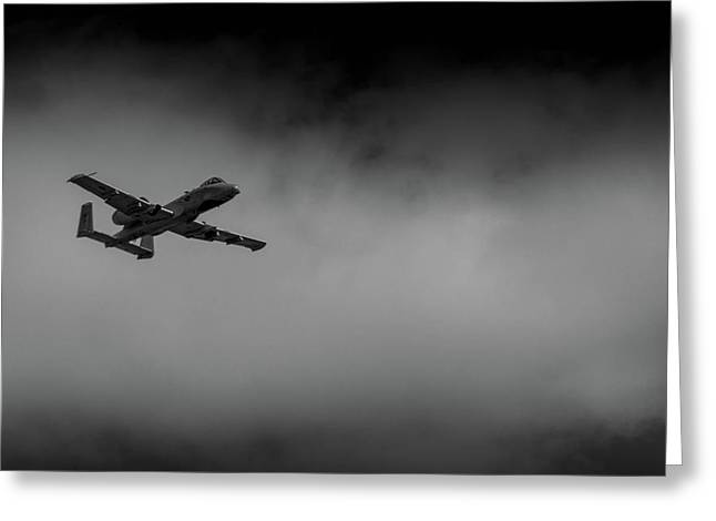 Out Of The Clouds - A-10c Thunderbolt Greeting Card