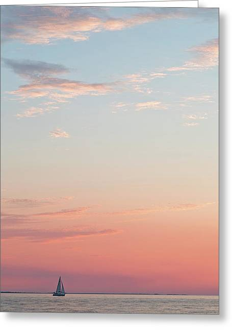 Outer Banks Sailboat Sunset Greeting Card