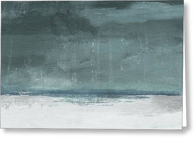 Greeting Card featuring the mixed media Overcast 2- Art By Linda Woods by Linda Woods