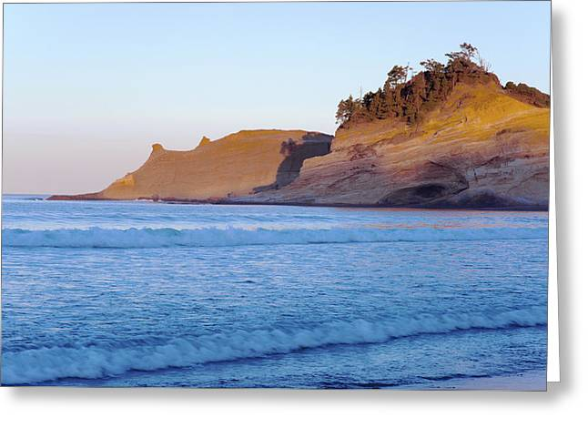 Greeting Card featuring the photograph Pacific City Cape Kiwanda Morning by Rospotte Photography