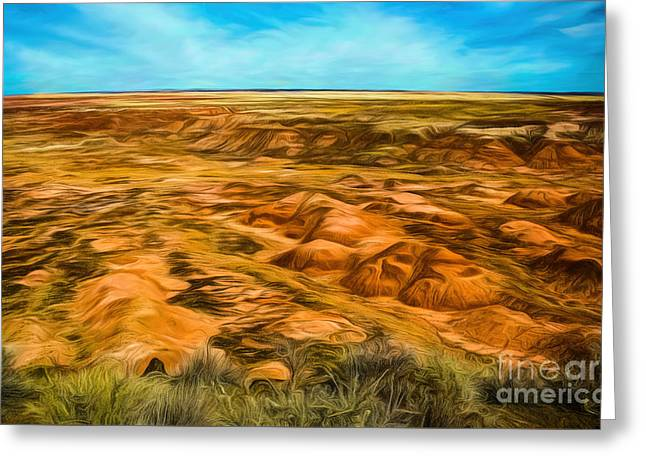 Greeting Card featuring the photograph Painted Desert Far View by Jon Burch Photography