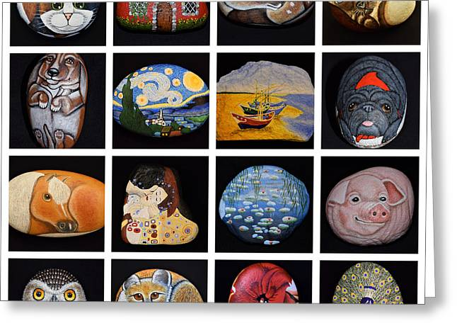 Painted Rock Art Greeting Card
