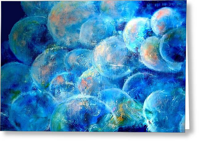 Painterly Bubbles Greeting Card