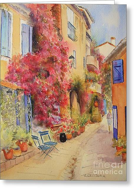 Painting Of Grimauld Village France Greeting Card
