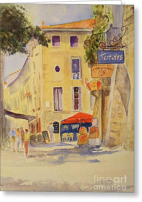 Painting Of Uzes France Greeting Card
