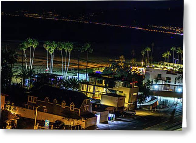 Palisades Park Night - Panorama Greeting Card