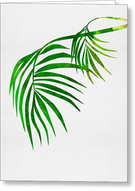 Palm Tree Leafs Greeting Card
