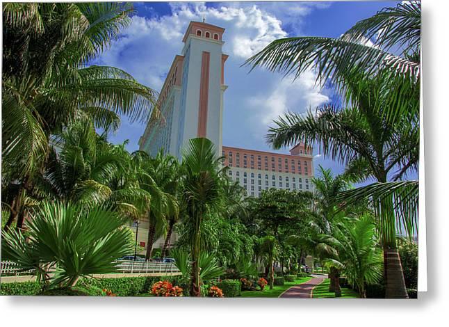 Palms At The Riu Cancun Greeting Card