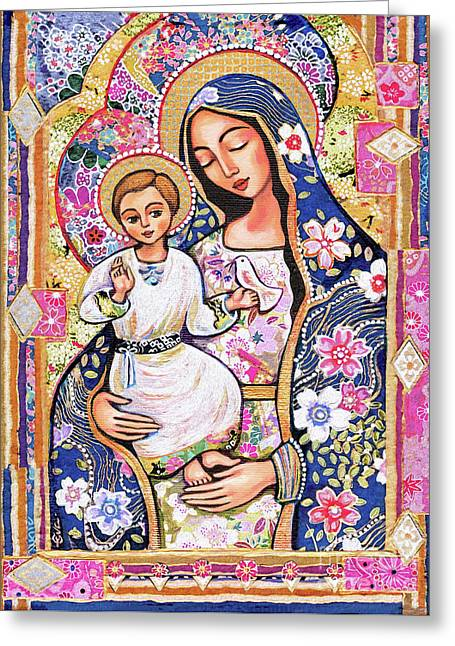 Panagia Eleousa Greeting Card