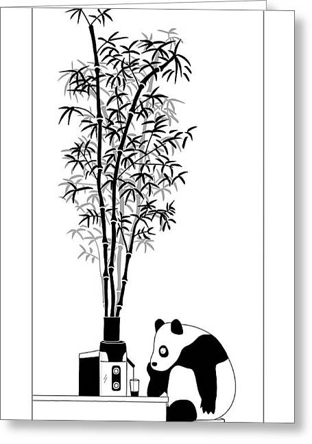Panda Juice Greeting Card