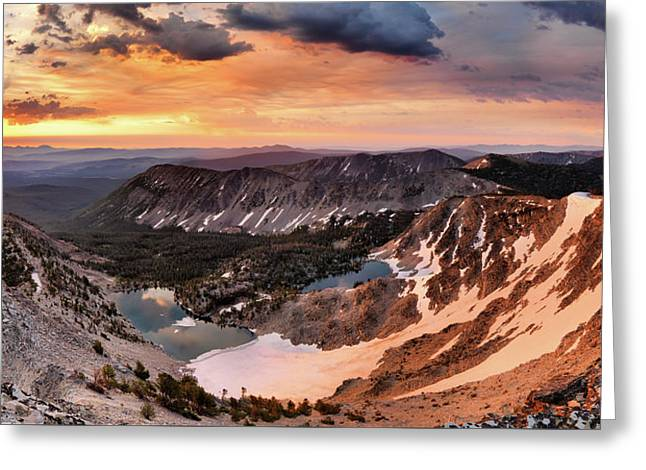 Panoramic Cdt Sunrise Greeting Card by Leland D Howard
