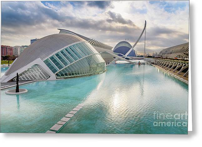 Panoramic Cinema In The City Of Sciences Of Valencia, Spain, Vis Greeting Card