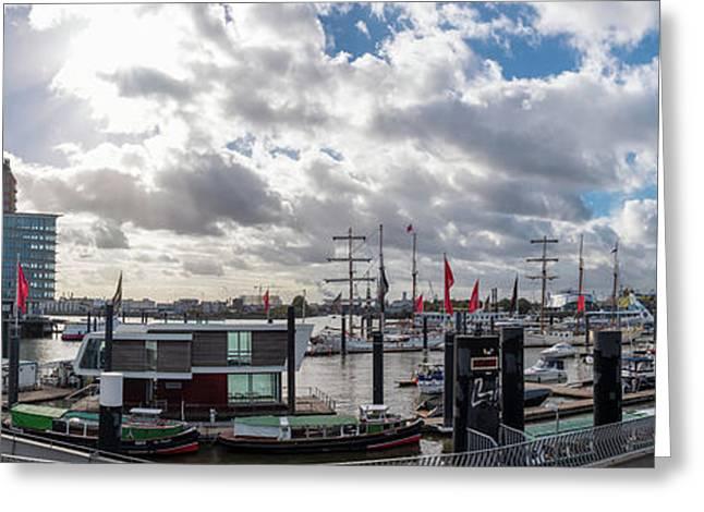 Panoramic View Of Hamburg Greeting Card