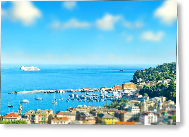 Panoramic View  With Tilt-shift Effect Greeting Card