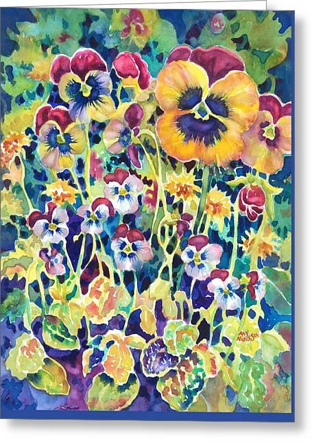 Pansies And Violas Greeting Card
