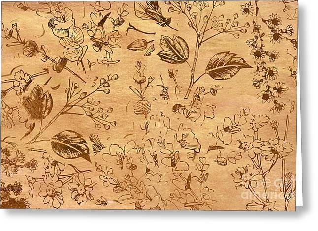 Paper Petal Patterns Greeting Card