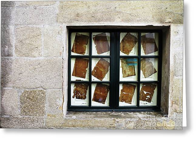 Greeting Card featuring the photograph Parchment Panes by Rick Locke