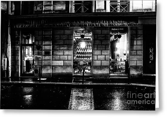 Paris At Night - Rue Bonaparte 2 Greeting Card