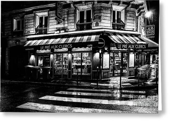 Paris At Night - Rue Bonaparte Greeting Card
