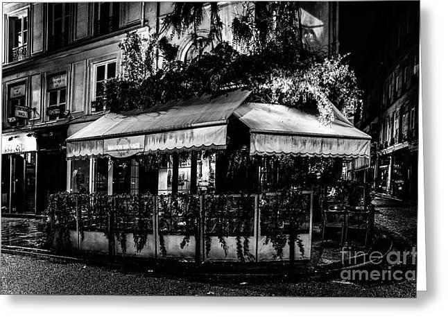 Paris At Night - Rue De Buci Greeting Card