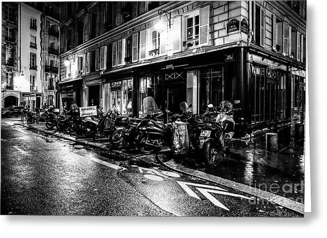Paris At Night - Rue Jacob Greeting Card