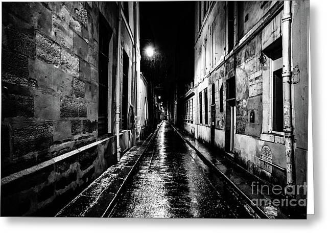 Paris At Night - Rue Visconti Greeting Card