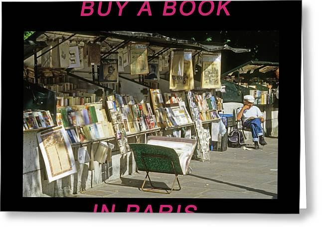 Paris Bookseller Greeting Card