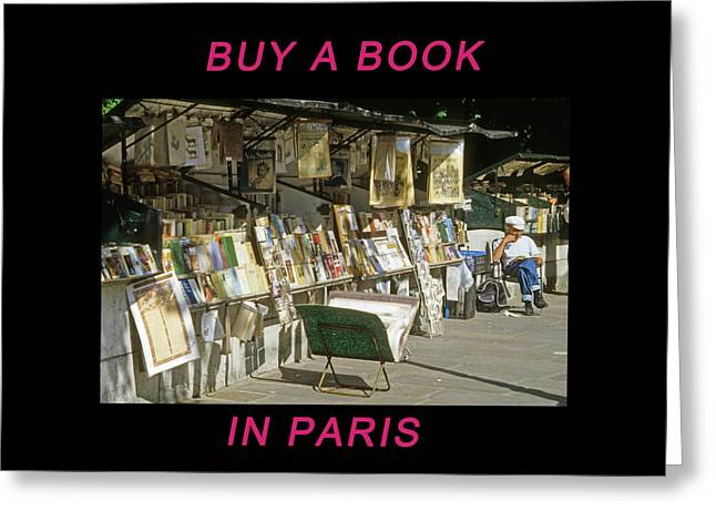 Paris Bookseller Greeting Card
