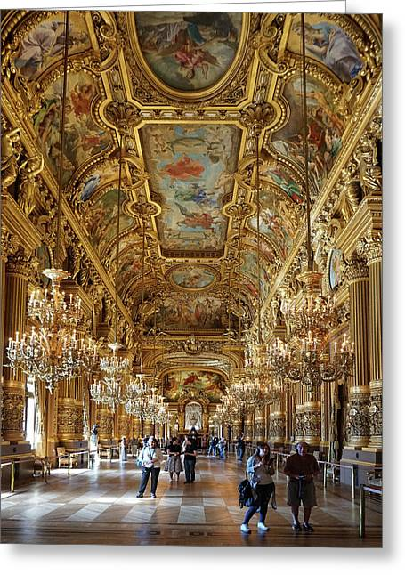 Greeting Card featuring the photograph Paris Opera by Jim Mathis