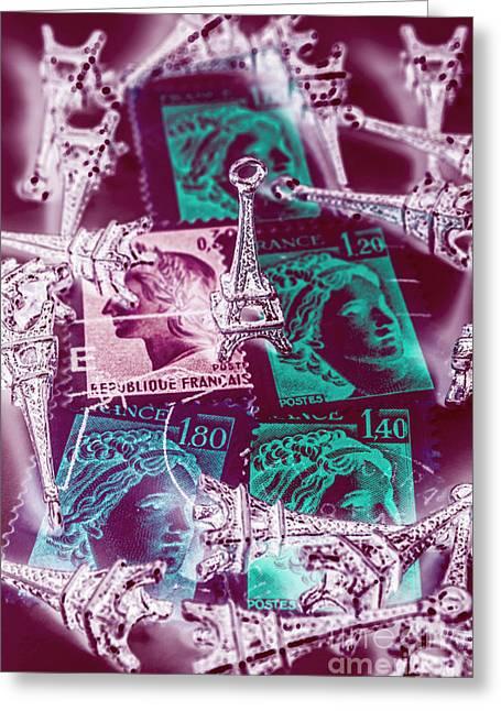 Parisian Postmarks Greeting Card