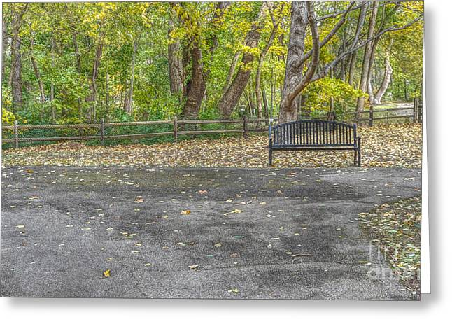 Park Bench @ Sharon Woods Greeting Card